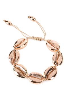 Large Puka Shell Bracelet In Rose Gold - Maison Orient