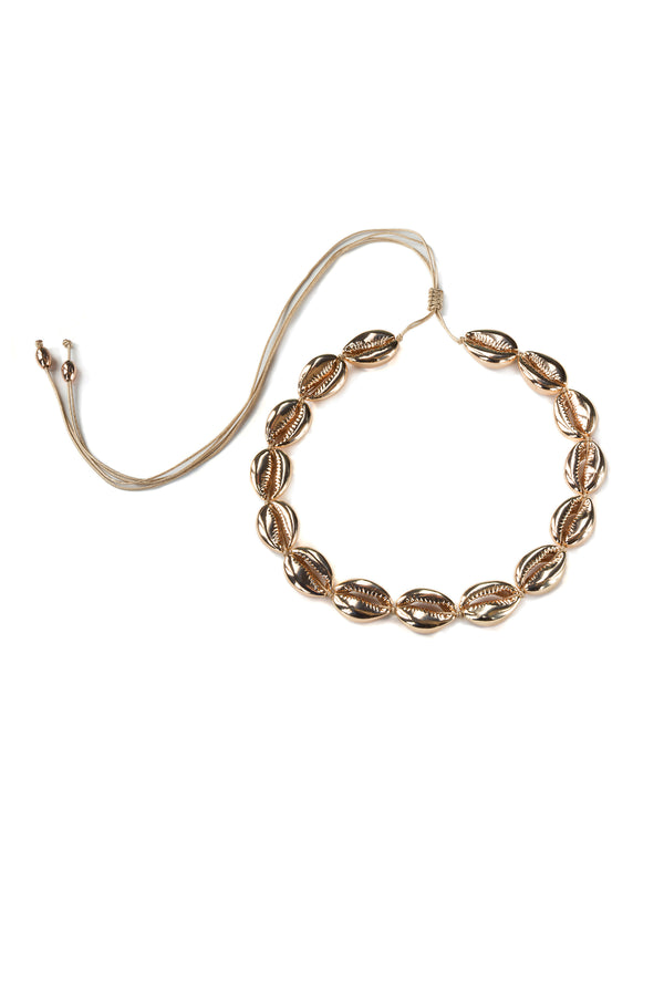 Large Puka Shell Necklace Rose Gold - Maison Orient