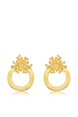 Lava Circle Earrings - Maison Orient