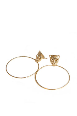 Leopard Hoops Large Earrings - Maison Orient