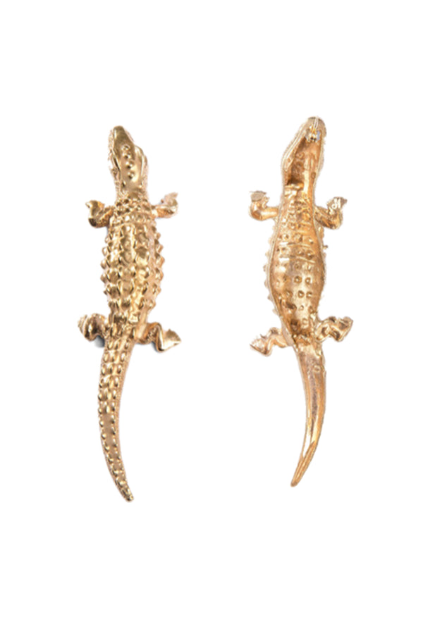 Lizard Earrings Big - Maison Orient