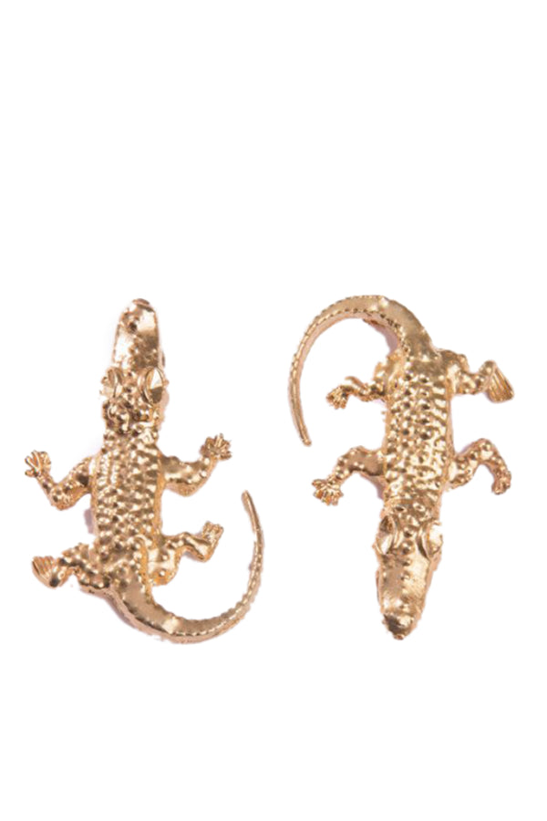 Lizard Earrings Small - Maison Orient