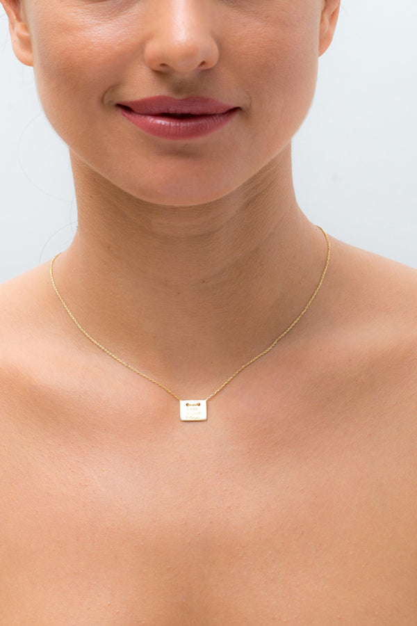 Square plate Necklace
