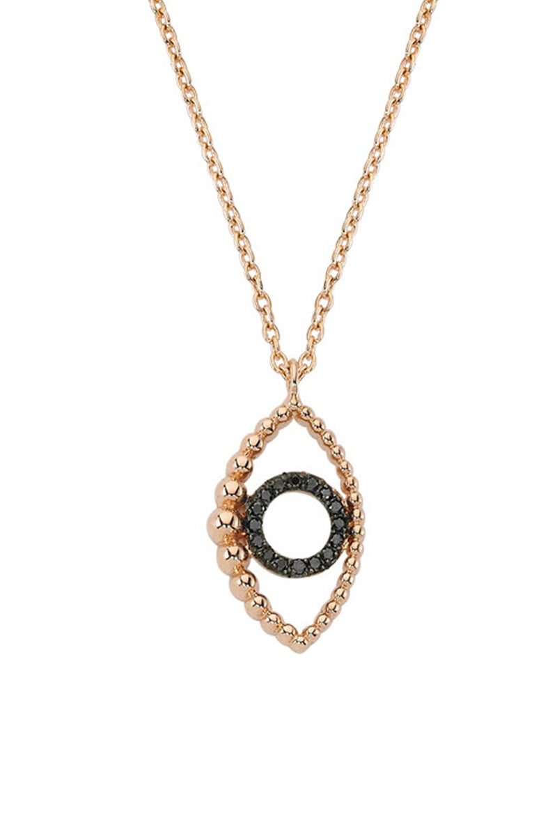 Medium Vertical Eye Necklace - Maison Orient