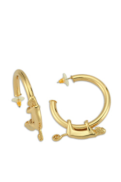 Ninon Monkey Hoop Earrings