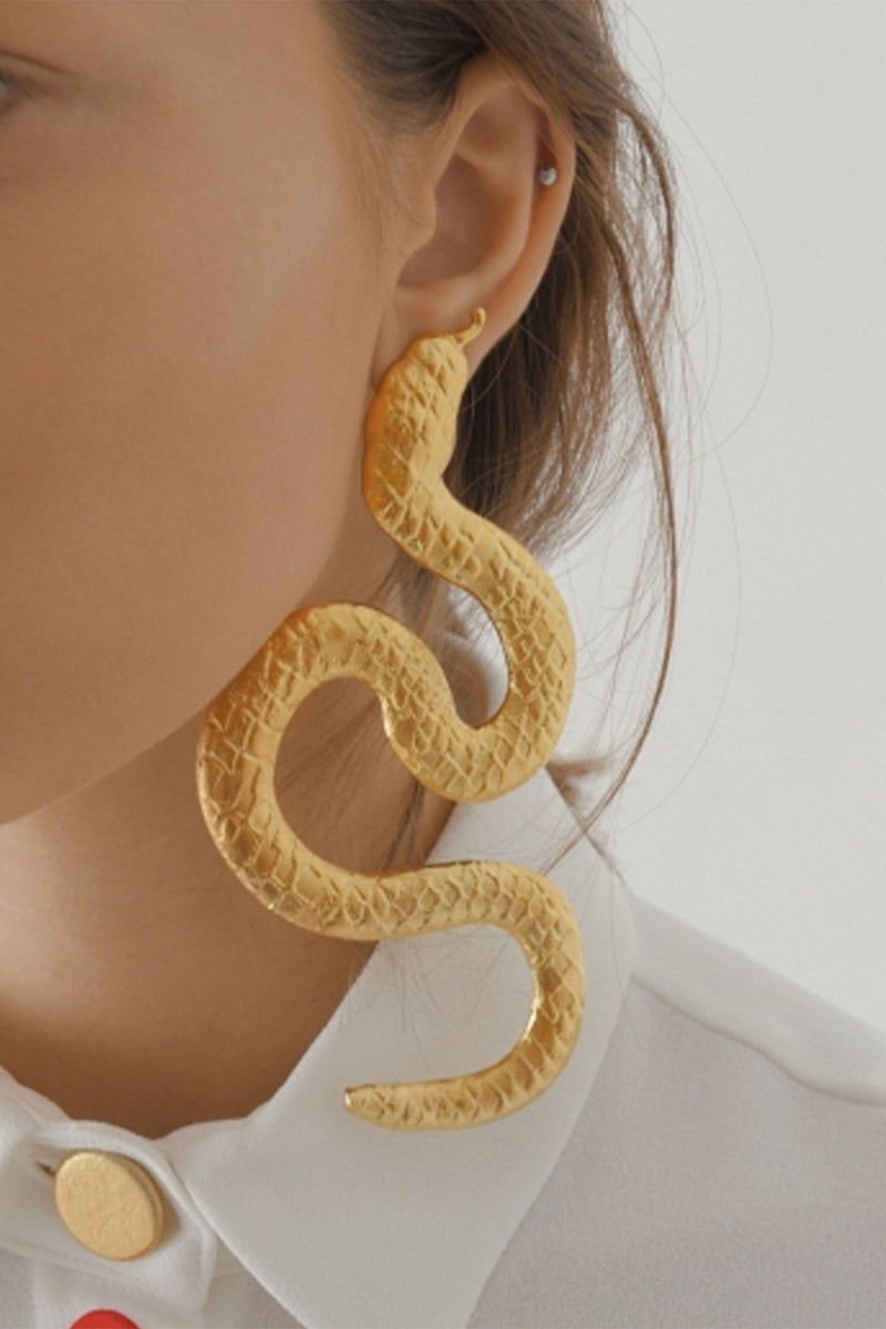 Snake Earrings Big