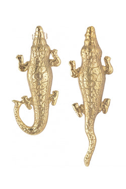 Small Crocodile Earrings