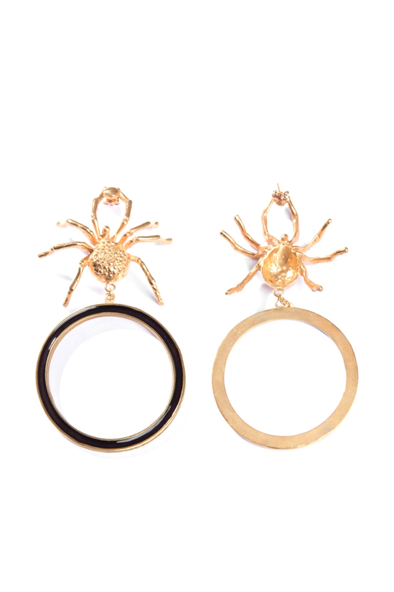 Gold Spider Earrings