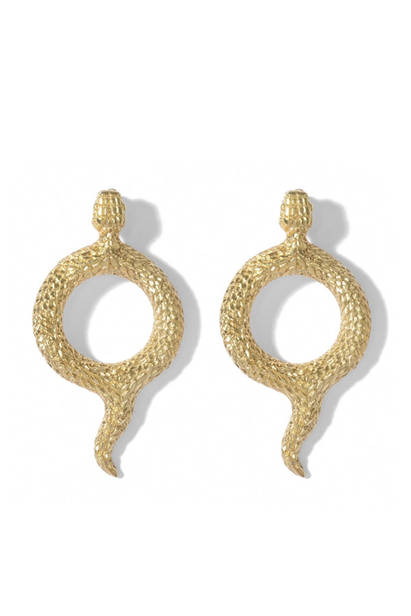 Round Snake Earrings