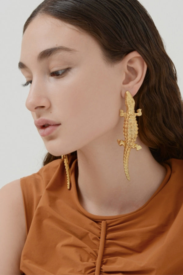 Large Lizard Earrings