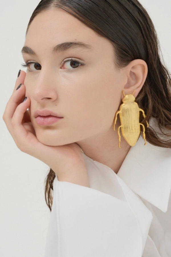 Large Beetle Earrings