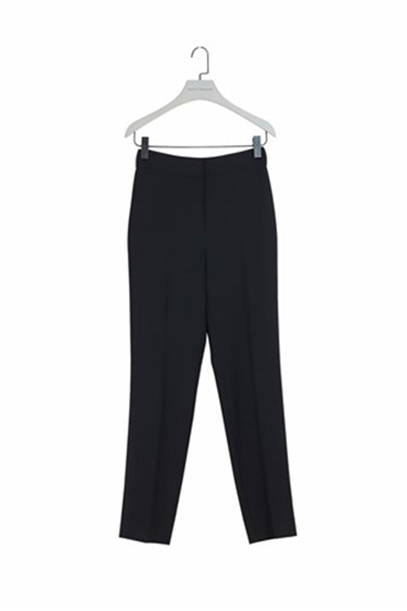 Black Classic Pants with Smocking