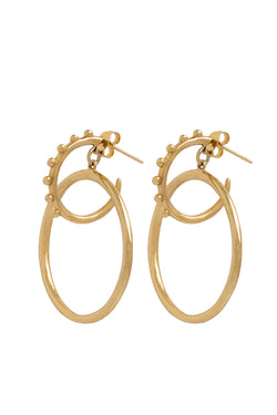 Pair Of Gold Double Earrings - Maison Orient