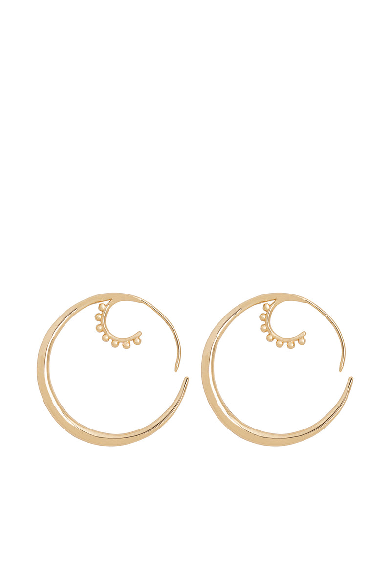 Pair Of Gold Hook Earrings - Maison Orient
