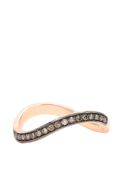 Infinity Band with diamond pave