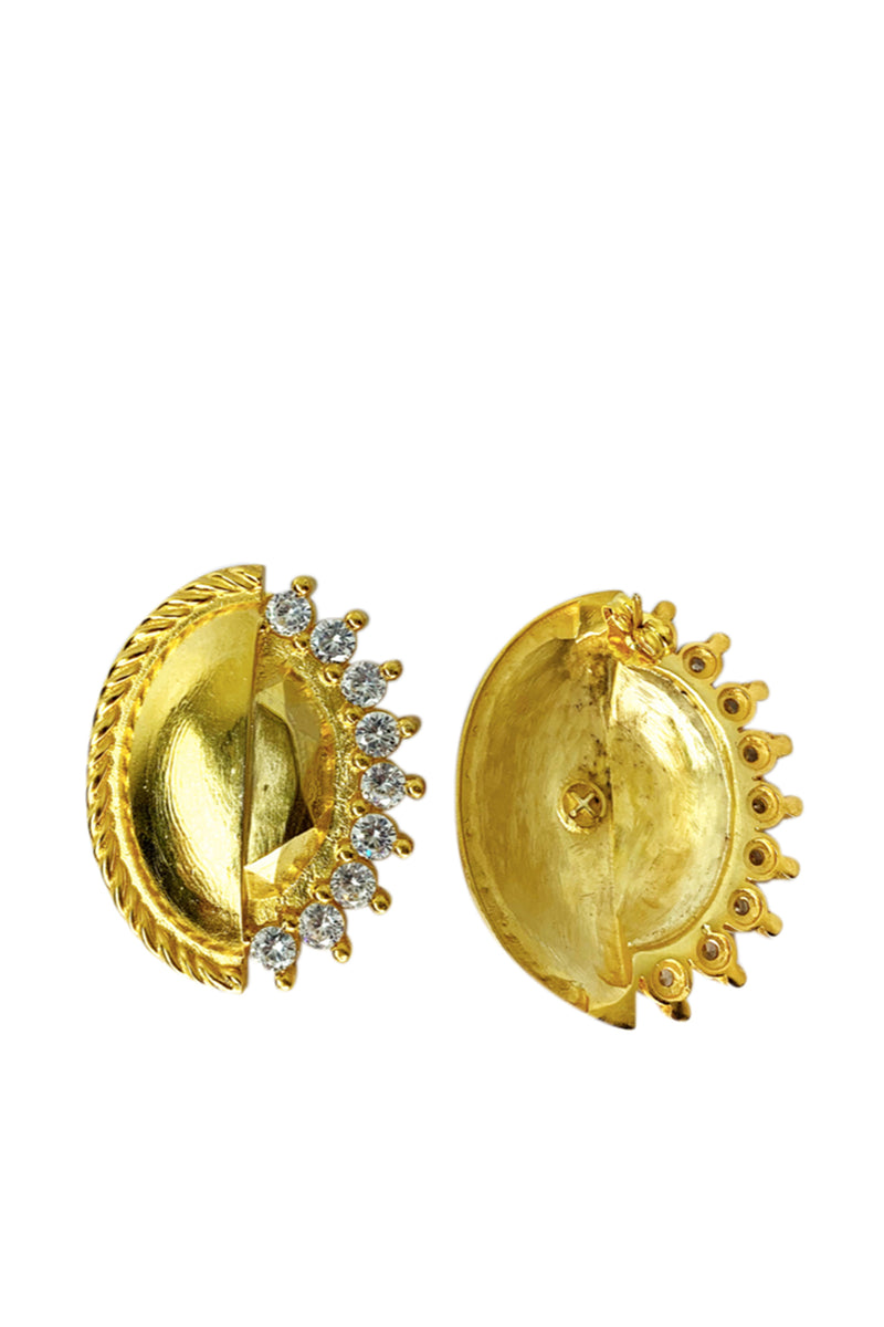 Round Earrings Gold - Maison Orient