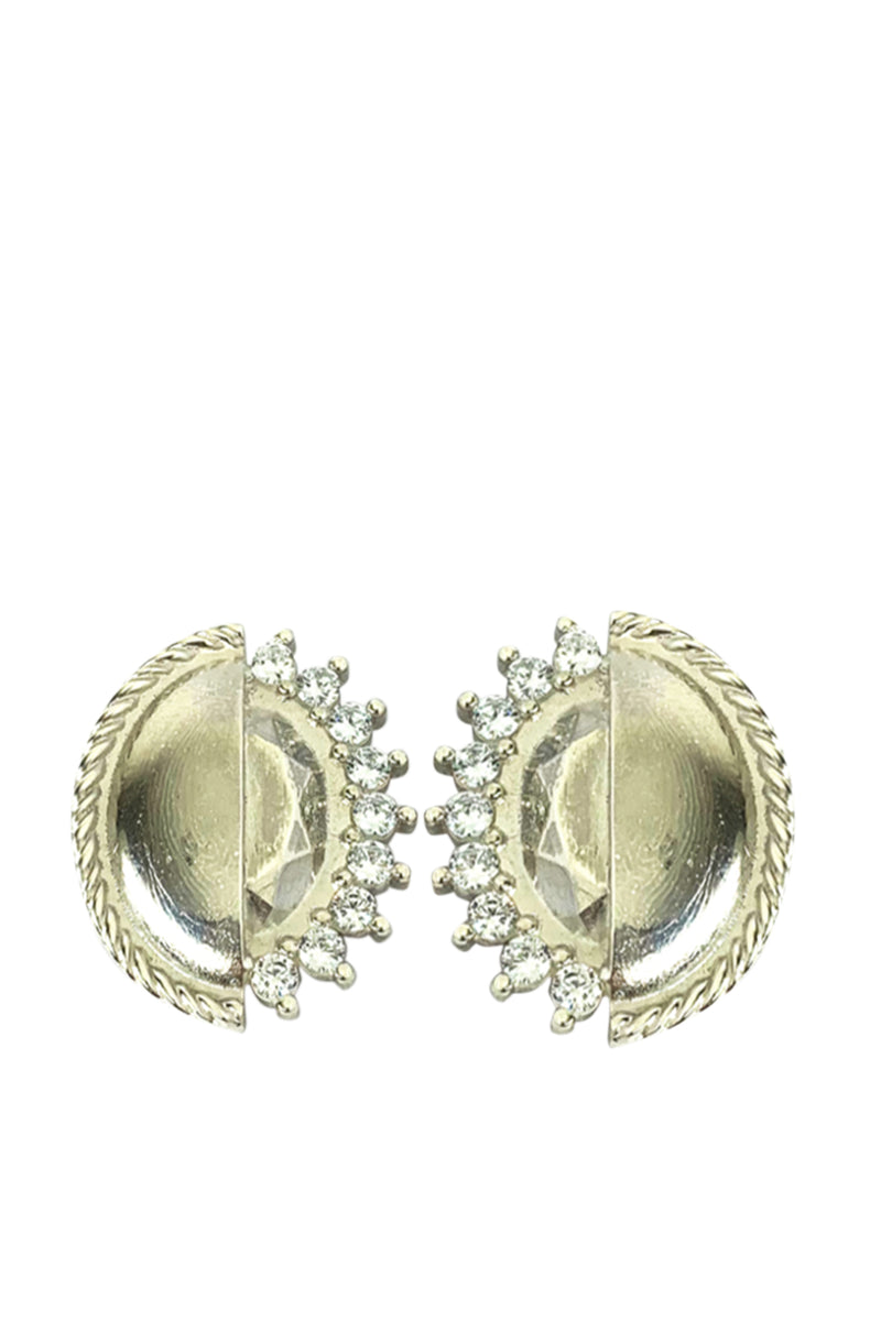 Round Earrings Silver - Maison Orient