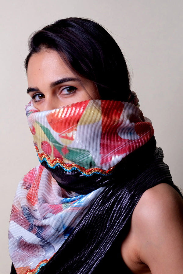 Geometric summer scarf