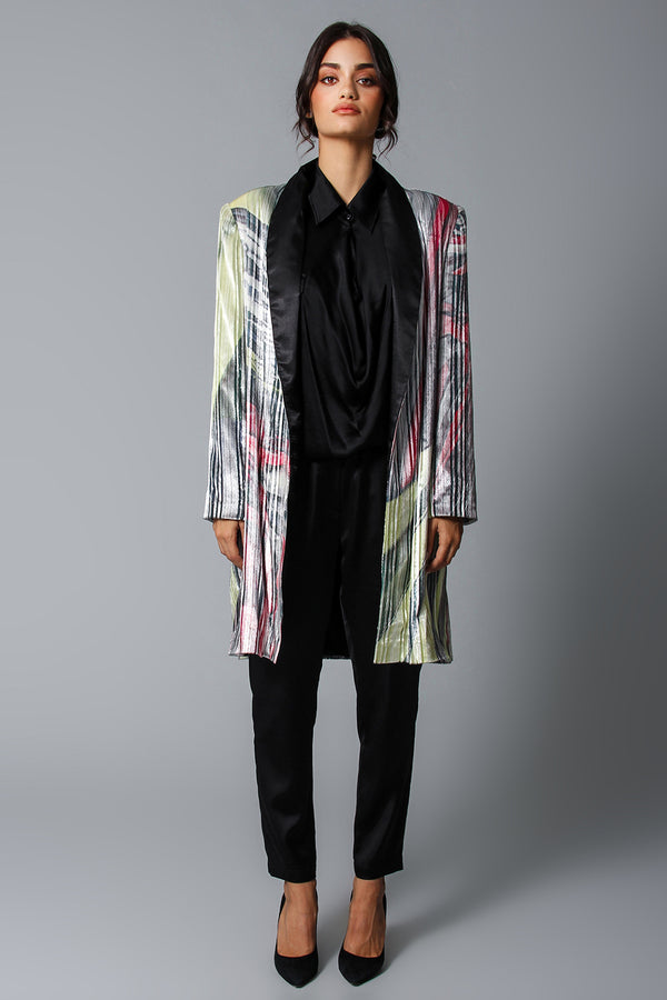 Disco train laminated coat