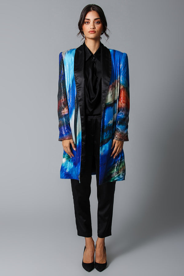 Costa azzura laminated coat