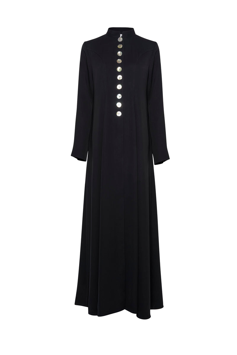 COAT ABAYA WITH MOTHER OF PEARL BUTTONS