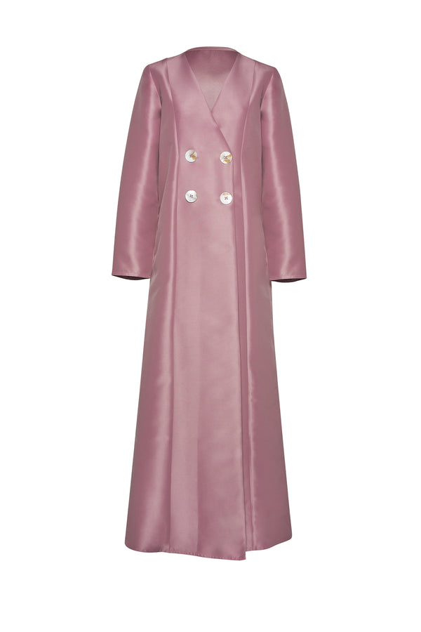 MINIMAL COAT ABAYA WITH FOUR BUTTONS