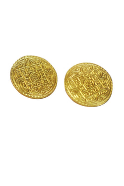 Sikka Earrings Gold - Maison Orient