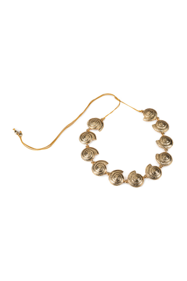 Small Archi Shell Necklace In Gold - Maison Orient