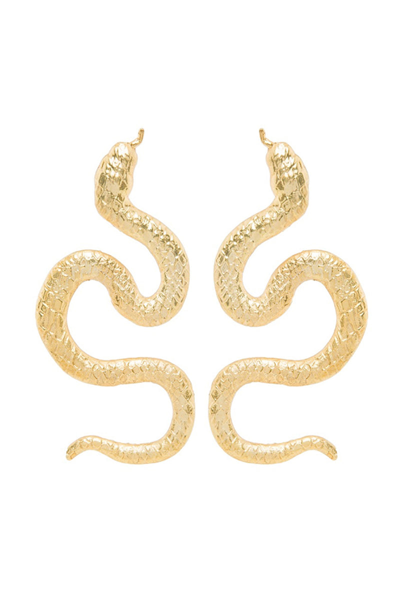 Snake Earrings Big - Maison Orient