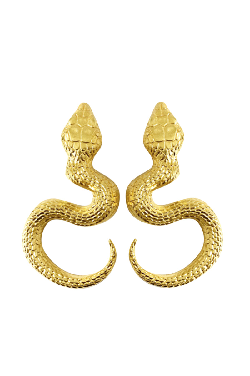 Snake Earrings With Eyes - Maison Orient