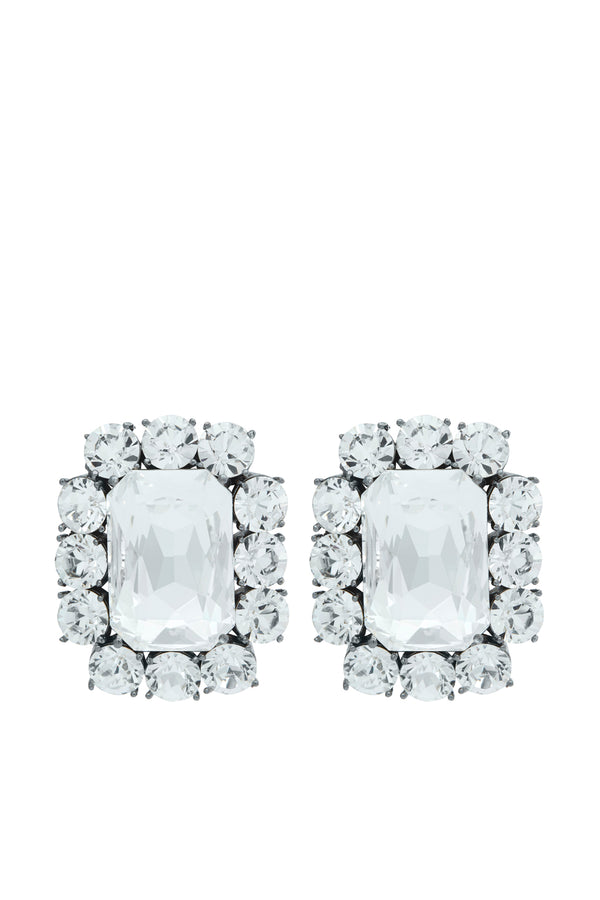 Square Diamond Crystal Earrings - Maison Orient