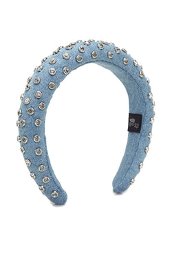 Studded Light Denim Loretha Headband - Maison Orient