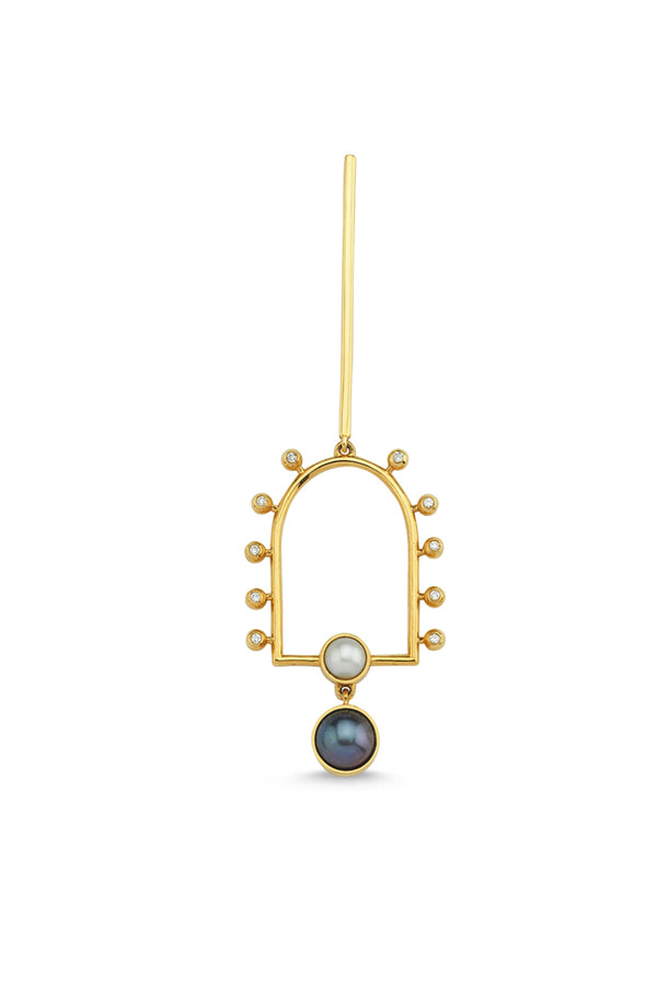 Sun And Moon Earrings Single - Maison Orient
