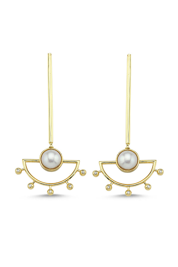 Sun Earrings Single - Maison Orient