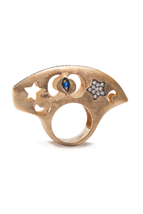 The Heavely Dome Ring Vermeil Gold - Maison Orient
