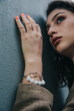 The Infinite Light Bracelet In 9 K White And Yellow Gold - Maison Orient