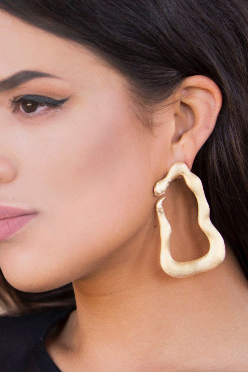 Ammanii Queen Hatshepsut Mix-and-Match Drop Earrings Vermeil Gold