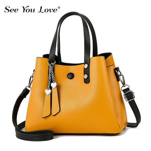 New Zipper Ladies Casual Leather Handbags