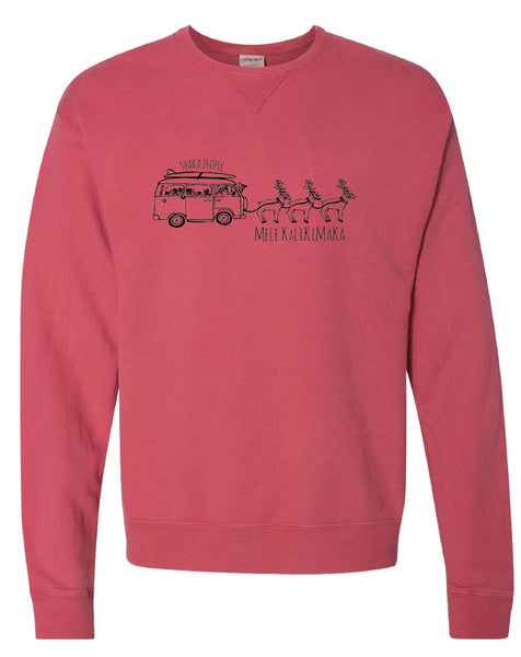 Santa's Bus Sweatshirt Red