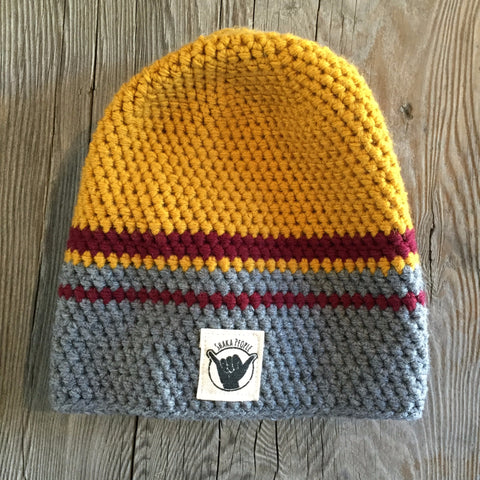 Yellow/Burgundy/Grey