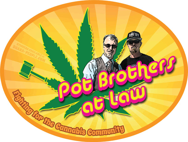 "POT BROS LOGO 4"" STICKER"