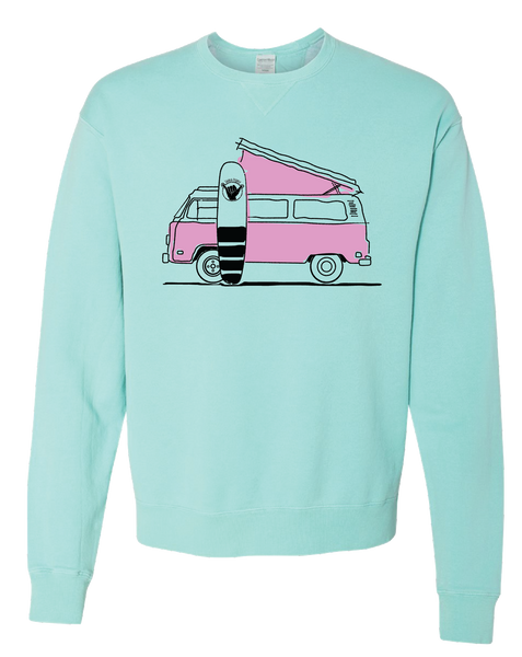 GOING WEST PULLOVER (TURQUOISE)