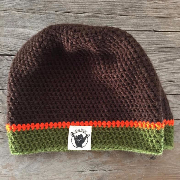 Brown/Orange/Green Beanie