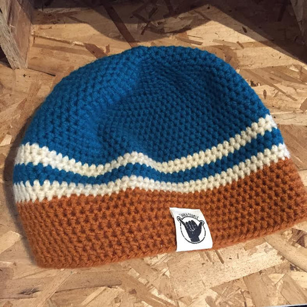 Orange/Blue/White Beanie