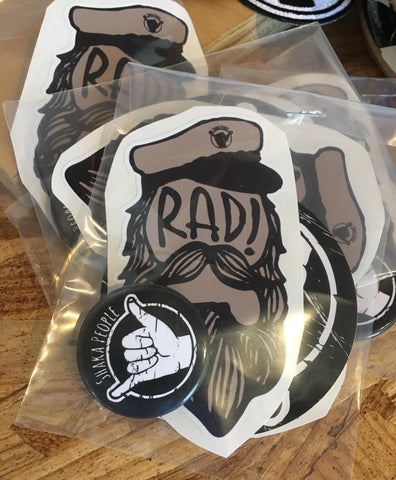 CAPTAIN RAD STICKER PACK