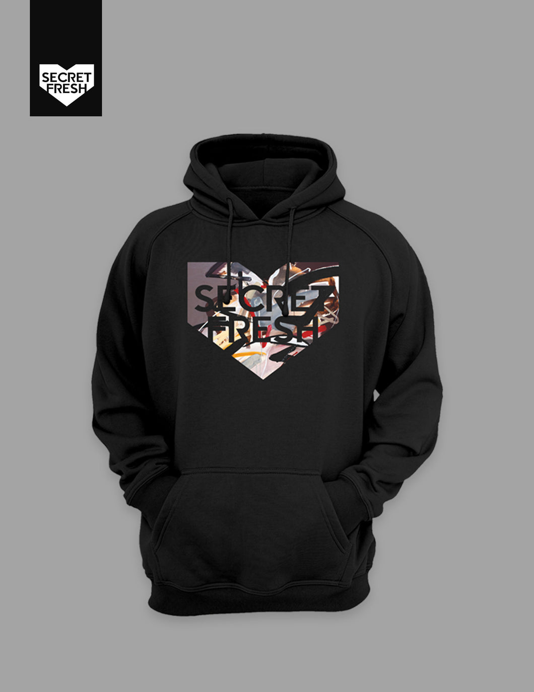 Bencab Abstract Sabel Black Hoodie