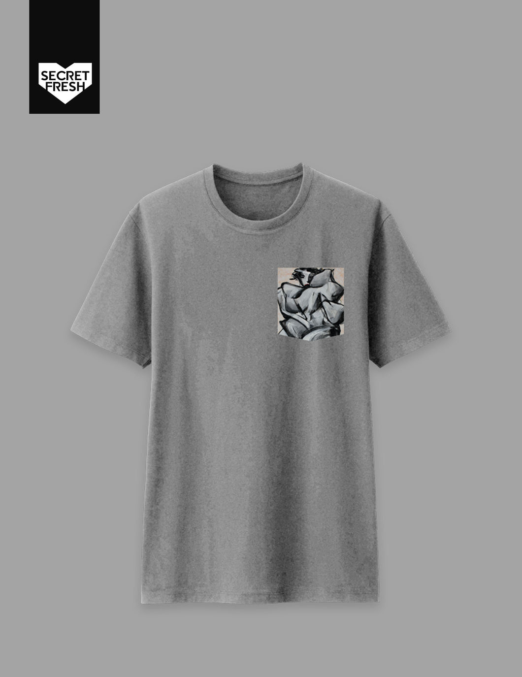 Bencab Mono Sabel Gray Pocket Tee