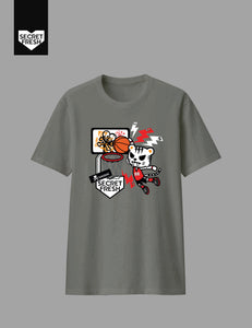 Tiger Dunk Gray Tee