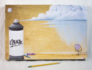 """Create"" Canvas Print"