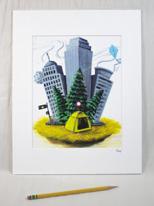 """Fresh AirBNB (Gentri-vacation)"" Matted Print"